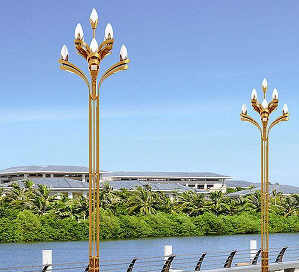 廠家直銷LED玉蘭燈 生產8-12米景觀燈中華燈高桿燈戶外道路燈照明