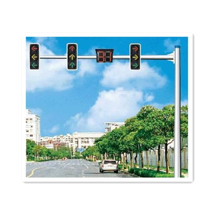 L型紅綠燈燈桿八角信號燈燈信號燈桿交通信號燈桿道路監控指示桿