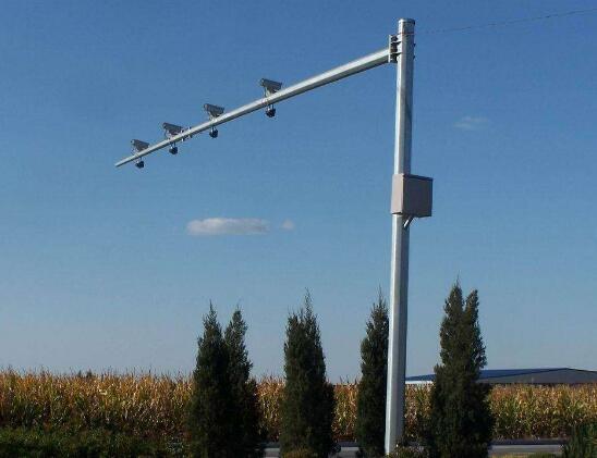 【監控桿】廠家定制 6米交通監控八角燈桿 電警熱鍍鋅監控桿立柱